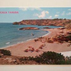 Postales: POSTAL CALA TARIDA IBIZA BALEARES EXCLUSIVAS CASA FIGUERETAS Nº 243 ESCRITA Y CIRCULADA 1973. Lote 238340135