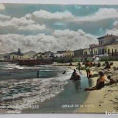 Postales: POSTAL CAN PICAFORT MALLORCA. DETALLE DE LA PLAYA Nº 1353. TALLERES ZERCOWITZ. CIRCULADA 1960. Lote 240860480