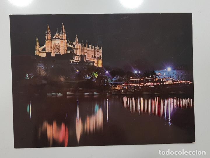 POSTAL TAMAÑO GRANDE 21 X 15 PALMA MALLORCA CATEDRAL NOCTURNA. SIN CIRCULAR, DESPEGADA. CASA PLANAS (Postales - España - Baleares Moderna (desde 1.940))