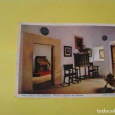Postales: POSTAL DE MALLORCA. VALDEMOSA. PIANO DE CHOPIN. CASA PLANAS. PUBLICIDAS LABORATORIOS FORTUNY. Lote 242402335