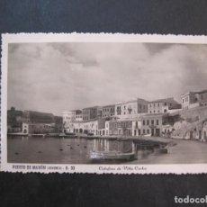 Postales: MENORCA-PUERTO DE MAHON-CALAFONS DE VILLA CARLOS-FOTOGRAFICA ROTGER-30-POSTAL ANTIGUA-(77.691). Lote 243662565