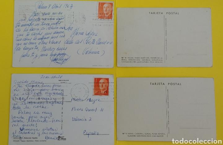 Postales: (Admito ofertas). 4 postales de Mallorca antiguas. Ver fotos - Foto 2 - 243688940