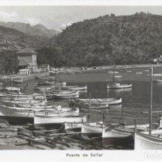 Postales: POSTAL FOTOGRAFICA ANTIGUA MALLORCA, PUERTO DE SOLLER. TRUYOL. Lote 244658800