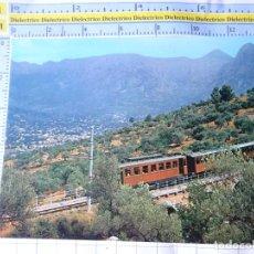 Postales: POSTAL DE MALLORCA. AÑO 1972. SOLLER VISTA PARCIAL. TREN FERROCARRIL. 419 CYP. 3283. Lote 245743320