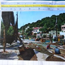 Postales: POSTAL DE MALLORCA. AÑO 1966. SANTAÑY CALA FIGUERA. PESCADORES. 19 BOHIGAS. 3292. Lote 245743560