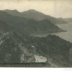 Postales: MALLORCA-VISTA DESDE LA CARRETERA DE BAÑALBUFAR-FOTOGRÁFICA AÑO 1923- RARA. Lote 246937720
