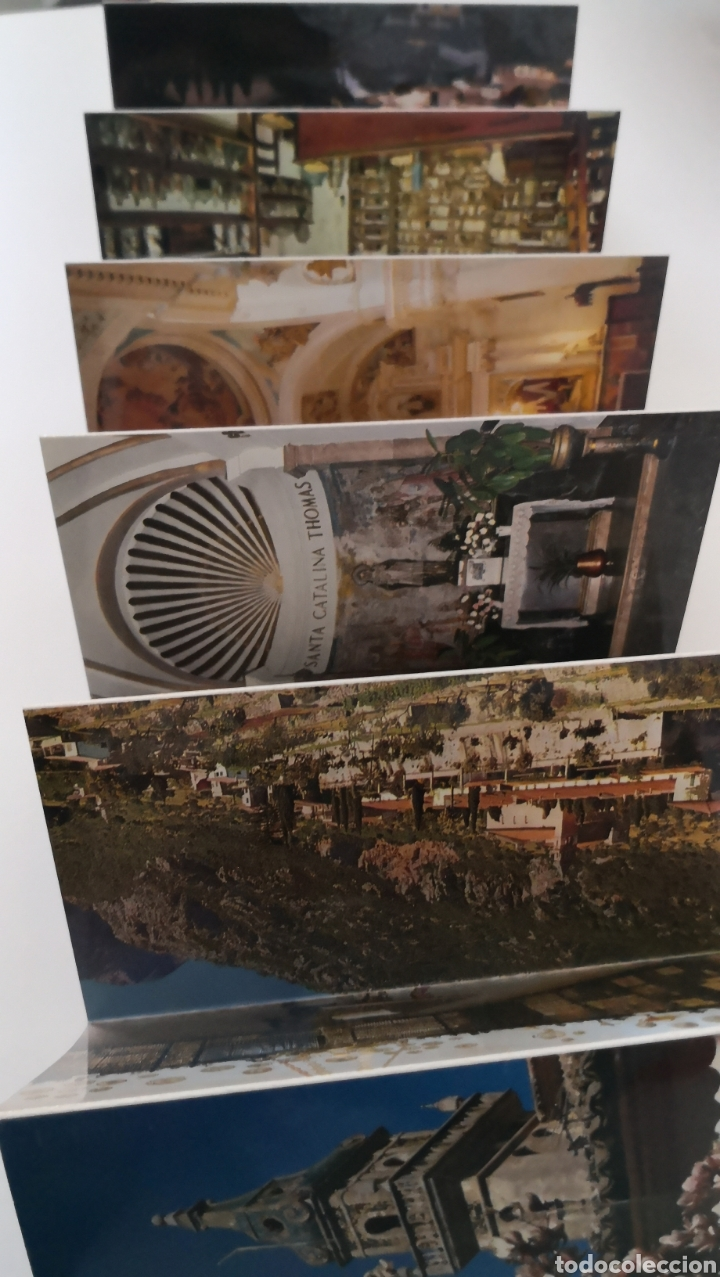Postales: Acordeón de 11 postales Valldemossa Mallorca - La cartuja Capilla Sta Catalina Thomas Escudo de oro - Foto 2 - 252973510