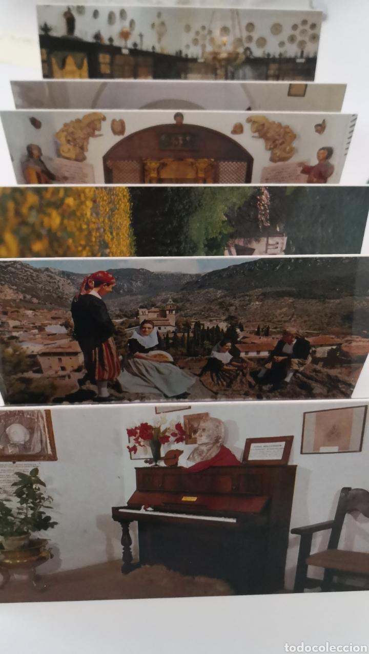 ACORDEÓN DE 11 POSTALES VALLDEMOSSA MALLORCA - LA CARTUJA CAPILLA STA CATALINA THOMAS ESCUDO DE ORO (Postales - España - Baleares Moderna (desde 1.940))