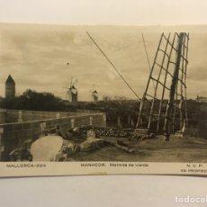 Postales: MALLORCA. POSTAL NO.224, MANACOR, MOLINOS DE VIENTO. EDIC., N.C.P. (H.1940?) S/C. Lote 254363805