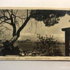 Postales: PALMA DE MALLORCA. POSTAL NO.20, DETALLE DEL PUERTO DESDE EL TERRENO. EDIC., GUILERA (H.1940?). Lote 254364295