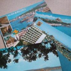 Postales: 4 POSTALES VISTA PUERTO DE PALMA ( MALLORCA) AÑOS 60 (381). Lote 254943955