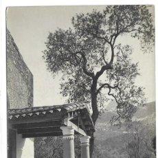 Postales: POSTAL FOTOGRAFICA CAPILLA DE SON MARCH POLLENSA MALLORCA IGLESIA ISLAS BALEARES SEÑOR EN BURRO. Lote 259875555
