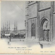 Postales: POSTAL PALMA DE MALLORCA PUERTA DE LA LONJA ISLAS BALEARES. Lote 259879670