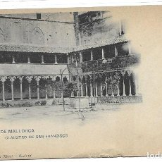 Postales: POSTAL PALMA DE MALLORCA CLAUSTRO DE SAN FRANCISCO ISLAS BALEARES. Lote 259880420