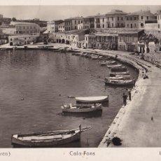 Cartes Postales: MENORCA, MAHON, CALA FONS. ED. R.V. PONS. CIRCULADA. Lote 260728340
