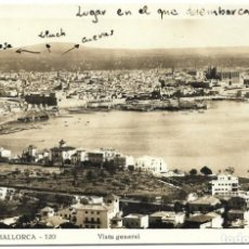 Postales: PALMA DE MALLORCA, 120 - VISTA GENERAL. Lote 261930235