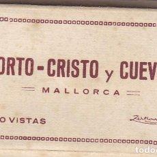 Postales: PEQUEÑO BLOC POSTAL COMPLETO MALLORCA PORTO CRISTO Y CUEVAS. ED. ZERKOWITZ BARCELONA. BYN COLOREADAS. Lote 261974410