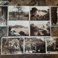Postales: LOTE FOTOGRAFIAS ANTIGUAS MALLORCA FORMENTOR CUEVAS DRACH ARTA. Lote 262033230
