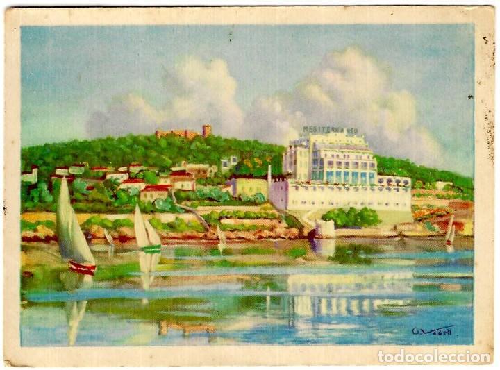 PALMA DE MALLORCA - MEDITERRÁNEO GRAN HOTEL - ILUSTRACIÓN DE ? - ED. MARTÍ Y MARI - 140X101 MM. (Postales - España - Baleares Moderna (desde 1.940))