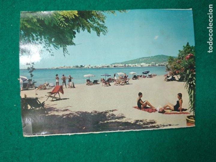 POSTAL IBIZA (BALEARES) SAN ANTONIO. VISTA DESDE EL HOTEL SES SEVINES. (Postales - España - Baleares Moderna (desde 1.940))