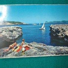 Postales: POSTAL IBIZA (BALEARES) SAN ANTONIO CALA BASSA.AL FONDO PUIG NONO. Lote 262698335