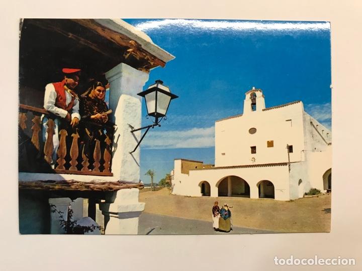 SAN JOSÉ IBIZA, POSTAL NO.503, IGLESIA Y BALCÓN TÍPICO.., EDIC, EXCLUSIVAS FIGUERETAS (A.1966) (Postales - España - Baleares Moderna (desde 1.940))