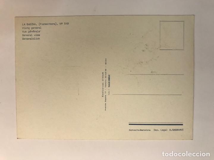 Postales: LA SABINA - FORMENTERA. Postal No.519, Vista General., Exclusivas Dimar (h.1960?) S/C - Foto 2 - 262769770