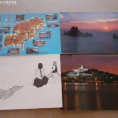 Postales: LOTE 4 POSTALES ANTIGUAS IBIZA SIN USAR. Lote 263563015