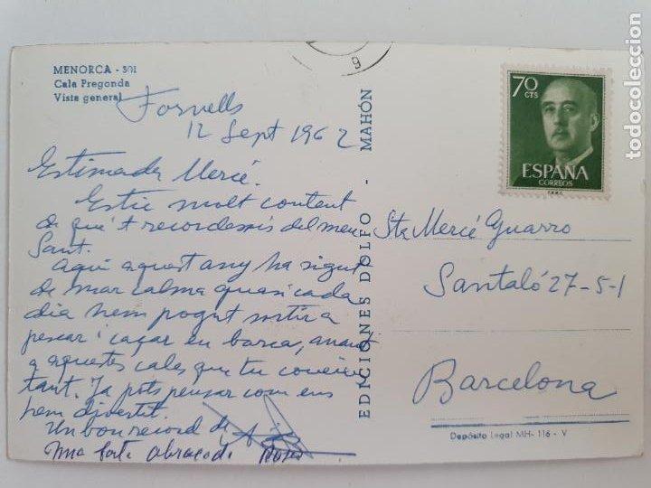 Postales: MENORCA - CALA PREGONDA - VISTA GENERAL - LAXC - P52099 - Foto 2 - 269258178