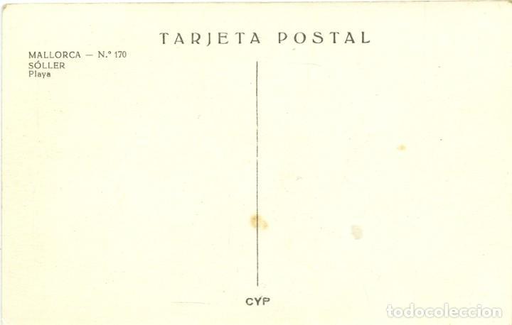 Postales: Nº 170-SÓLLER. Mallorca. Playa. Sin circular. ED. CYP - Foto 2 - 269269933