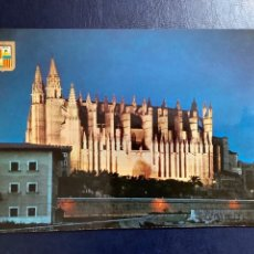 Postales: POSTAL MALLORCA. CATEDRAL DE NOCHE. SUBIRATS CASANOVAS. 1963.. Lote 270921023