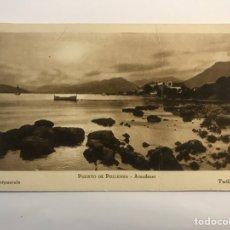 Postales: PUERTO DE POLLENSA. MALLORCA POSTAL ATARDECER, FOTO TWILIGHT (H.1940?) S/C. Lote 271490268