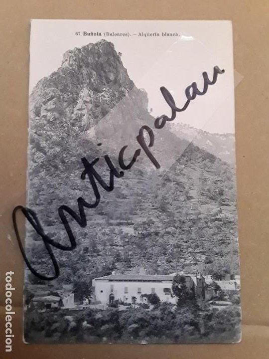 BUÑOLA - ALQUERÍA BLANCA - FOT. LACOSTE - ORIGINAL ÉPOCA (Postales - España - Baleares Antigua (hasta 1939))