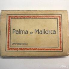 Postales: PALMA DE MALLORCA BLOC POSTAL (20) FOTOGRAFÍAS DE LA CIUDAD EN LOS AÑOS CUARENTA…. Lote 277545258