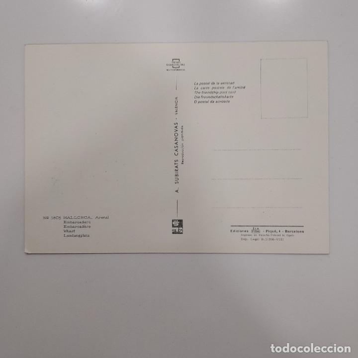 Postales: POSTAL MALLORCA. ARENAL. EMBARCADERO (BALEARES). SIN ESCRIBIR. SUBIRATS Nº 1805 RARA AÑOS 60 - Foto 2 - 277603658