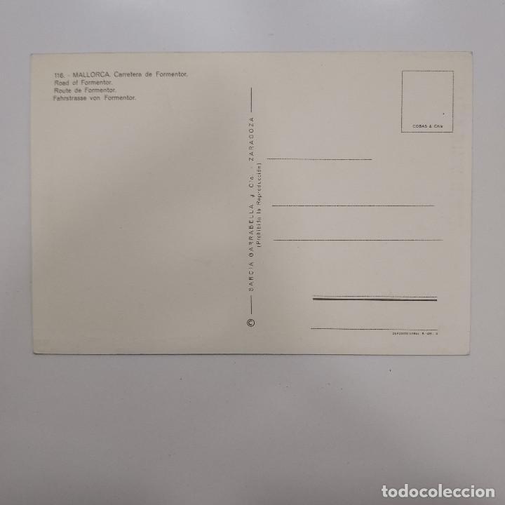 Postales: POSTAL MALLORCA. CARRETERA DE FORMENTOR (BALEARES). SIN ESCRIBIR. GARRABELLA Nº 116 RARA AUTOBUS - Foto 2 - 277603983