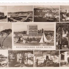 Postales: PALMA DE MALLORCA MEDITERRANEO GRAN HOTEL. ED. FOTO BALEAR E. HAUSSMAN. SIN CIRCULAR. Lote 277627378