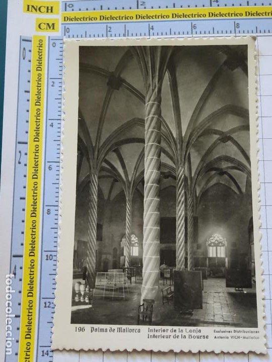 POSTAL DE MALLORCA. AÑOS 30 50. PALMA, INTERIOR DE LA LONJA 196 VICH. 894 (Postales - España - Baleares Moderna (desde 1.940))