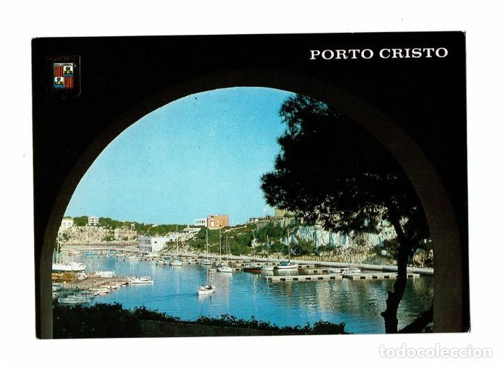 POSTAL PORTO CRISTO MALLORCA / VISTA PARCIAL / Nº 3040 ESCUDO DE ORO / CIRCULADA CON SELLO A REUS (Postales - España - Baleares Moderna (desde 1.940))