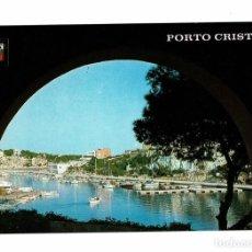 Postales: POSTAL PORTO CRISTO MALLORCA / VISTA PARCIAL / Nº 3040 ESCUDO DE ORO / CIRCULADA CON SELLO A REUS. Lote 279444493