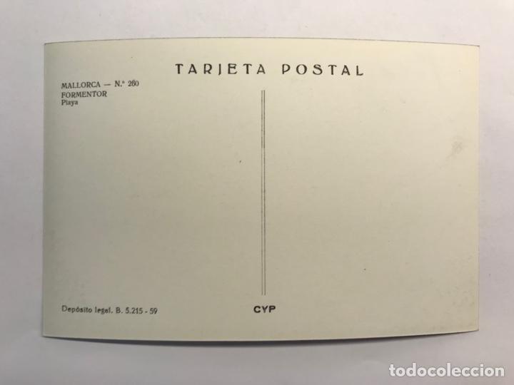 Postales: MALLORCA, Postal No.260, Formentor Playa Ediciónes C y P (h.1959?) S/C - Foto 2 - 279485238