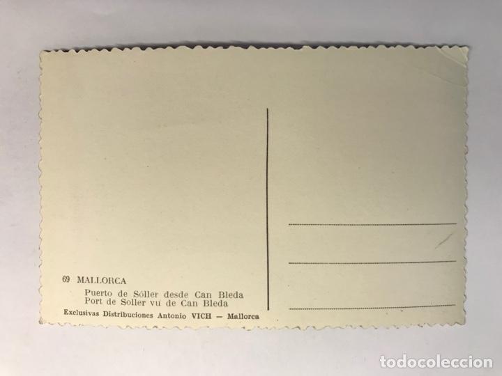 Postales: MALLORCA, Postal No.69, Puerto de Soller desde Can Bleda. Exclusivas A. Vich (h.1950?) S/C - Foto 2 - 279485268