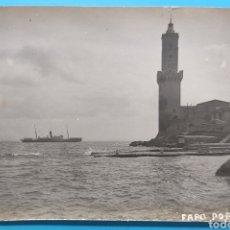 Postales: FARO PORTO PI PALMA DE MALLORCA POSTAL FOTOGRÁFICA BALEARES FOTÓGRAFO TRUYOL CIRCA 1920. Lote 284033888