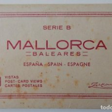 Postales: SERIE B MALLORCA - BALEARES 10 VISTAS - COMPLETO / TALLERES A. ZERKOWITZ. Lote 283748083