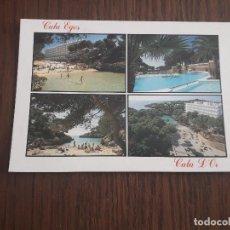 Postales: POSTAL DE VISTAS DE CALA EGOS, CALA D'OR, MALLORCA, AÑO 1996. Lote 288419048