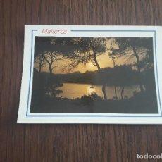 Postales: POSTAL DE ATARDECER EN MALLORCA, AÑO 1989. Lote 288419098
