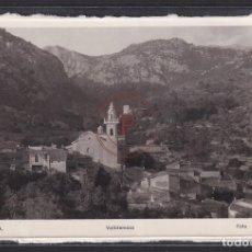 Postales: VALLDEMOSA (MALLORCA) - PANORAMA E IGLESIA. Lote 288551778