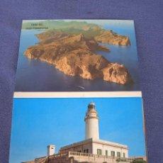 Postales: GRUPO DE POSTALES. FARO DEL CABO FORMENTOR. Lote 288869293