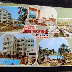 Cartes Postales: POSTAL * IBIZA ( EIVISSA ), HOSTAL ES VIVÉ * - 1969. Lote 289004068
