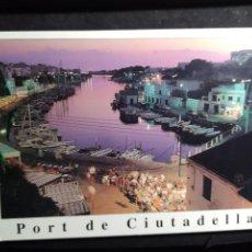 Postales: POSTAL * MENORCA , CIUTADELLA , PORT * 1995. Lote 289467323